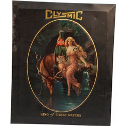 """Clysmic """"King of Table Waters"""" Tin Advertisement Sign"""
