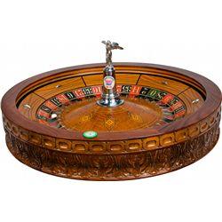 H.C. Evans Deluxe Roulette Wheel w/ Goddess Of Chance