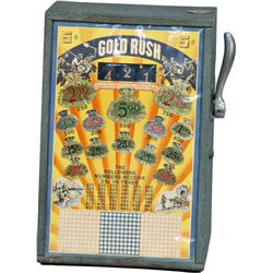 """5 Cent """"GOLD RUSH"""" Number 3-Reel Punchboard Style"""