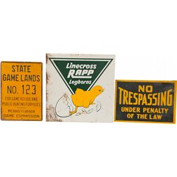 Lot Of 10 Misc. Tin Signs: