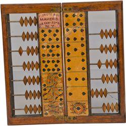 Early Wooden Folding Faro Case Keeper