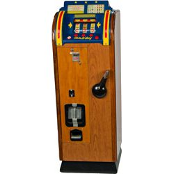 "25 Cent Bally MFG. Co. ""hi-boy"" Console Bell Slot Machi"