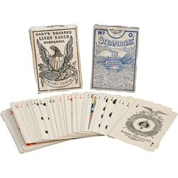 Lot of 3 Decks of Early Playing Cards: