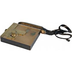 Early Brass-top Countertop Scissor Playing Card Trimmer
