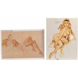 "Lot Of 10 Misc. Playboy Magazine ""Vargas Girls"" Paintin"