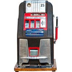 25 Cent Mills Novelty Blue Bell Hightop Slot Machine