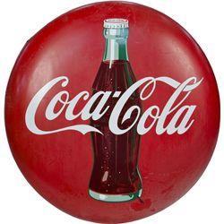 Large Coca Cola Tin Button Sign