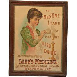 Early Lane's Medicine Original Advertisement Print