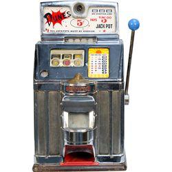 "5 Cent Jennings Export Chief ""DUNES"" Slot Machine"