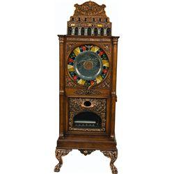 5 Cent Caille Big Six Upright Slot Machine w/ Music