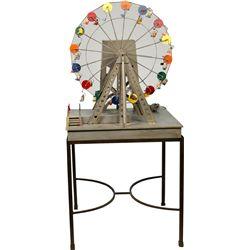Wood & Metal Figural Carnival Ferris Wheel Ride Display