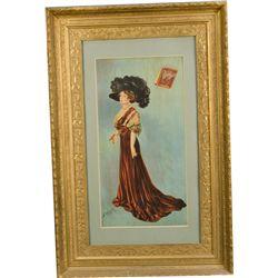 Velvet Tobacco Advertisement Print In Ornate Frame