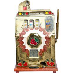 $1 Mills Novelty Half-Top Bursting Cherry Slot Machine
