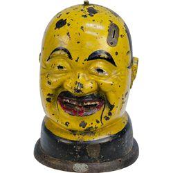 """1 Cent """"HAPPY JAP"""" Gum Vending Machine Cast-Iron"""