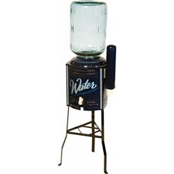 Vintage Water Cooler w/ Side Cup Dispenser/Cups And