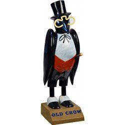 Old Crow Plastic Figural Crow Advertisement Countertop