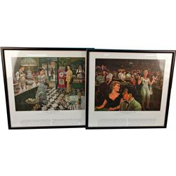 Set of 10 Harrah's Collection Gambling Themed Pictures