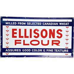 Ellisons Flour Porcelain Sign