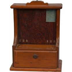 1 Cent Wooden Countertop Penny Drop Machine Gumball Tra