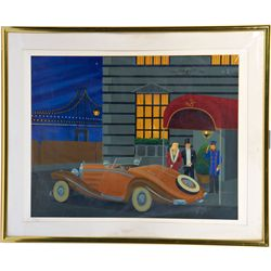 City Scene Limited Edition Art Lithograph Print In Fram