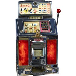 25 Cent O.D. Jennings Star Chief Light Up Slot Machine