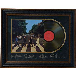 "Autographed The Beatles ""Abbey Road"" Gold Album Record"