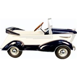 Blue & White Sharknose Graham Pedal Car By The American