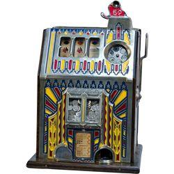 """5 Cent Pace Comet """"Fancy Front"""" Slot Machine w/ Jackpot"""