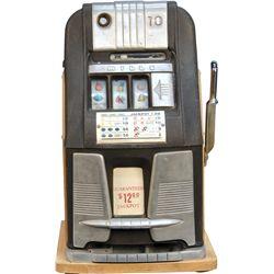 10 Cent Mills Novelty Hi-Top Jackpot Slot Machine c1940