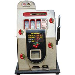 10 Cent Mills Novelty Half-Top Black Cherry Slot Machin