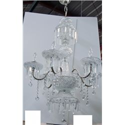 Hanging Pasabahce Clear Crystal 6-Light Chandelier