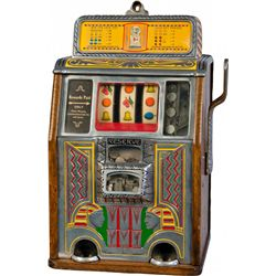"""5 Cent Caille Brothers Co. """"Silent Sphinx"""" Slot Machine"""