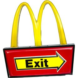 McDonald's Double-Sided Neon Light-Up Exit Sign