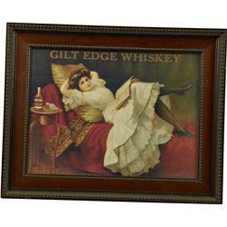 Gilt Edge Whiskey Advertisement Poster Print In Wood