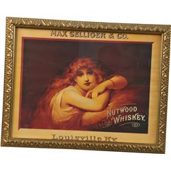 Max Selliger & Co. Nutwood Whiskey Advertisement Poster