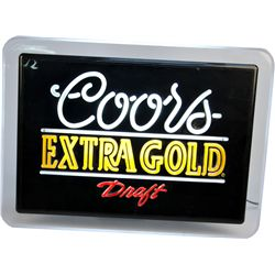 Coors Extra Gold Draft Beer Embossed Plastic Light-Up