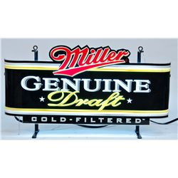 Miller Genuine Draft Cold-Filtered Beer Neon Curved Pla