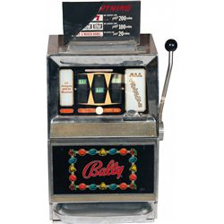 "5 Cent Bally MFG. Co. Model 742A ""Lightning"" Slot Machi"