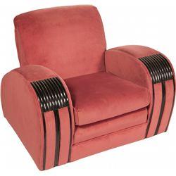 Lot of 2 Matching Streamline  Art Deco Furniture Items: