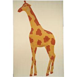 Large Stuffed Raised Fabric Giraffe Wall Art Picture