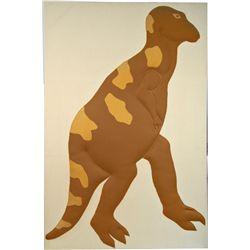 Large Stuffed Raised Fabric Tyrannosaurus Rex Wall Art
