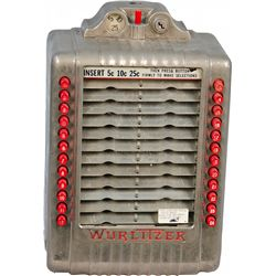 Coin-op Wurlitzer Wall Box Model 3020 Remote Jukebox Se