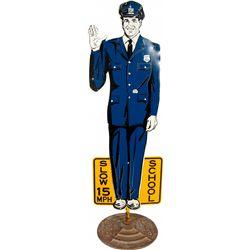 Original Lifesize Coca-Cola Policeman School Crossing G