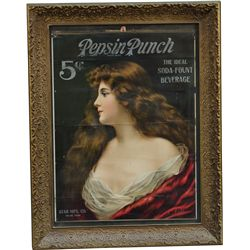 Pepsin Punch A. Asti Advertisement Sign In Ornate Frame