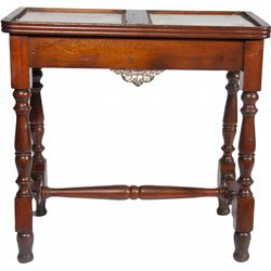 Carved Oak Ornate Double Slot Machine Stand