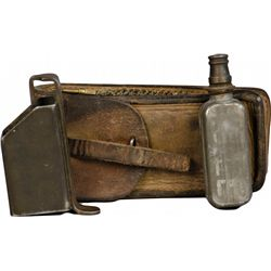 Early Leather Pouch w/ Gun Cleaning Tools