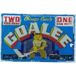 Chicago Coin's Goalee Ice Hockey Skill Arcade Game Glas