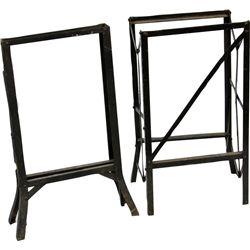 Lot of 2 Steel Black Folding Slot Machine Stands