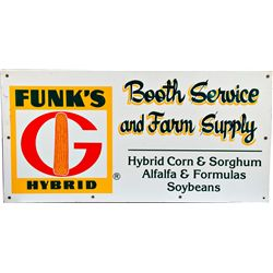 Funk's Hybrid Farm Double-Sided Tin Box Sign