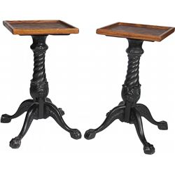Lot of 2 Matching Claw-Foot Slot Machine Table Stands